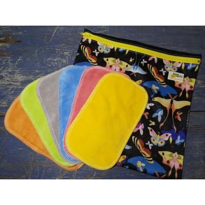 Papier hygiénique lavable en velours et sac imperméable