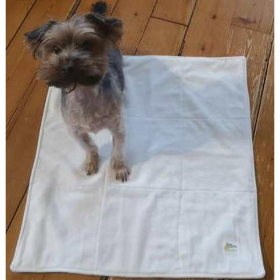 Pipi pad tapis de propreté pour chien taille petit - velour crème