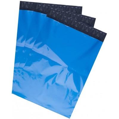 Enveloppes d'expédition en polyéthylène - polymailers - bleu 25,4 x 33 cm (paquet de 10)