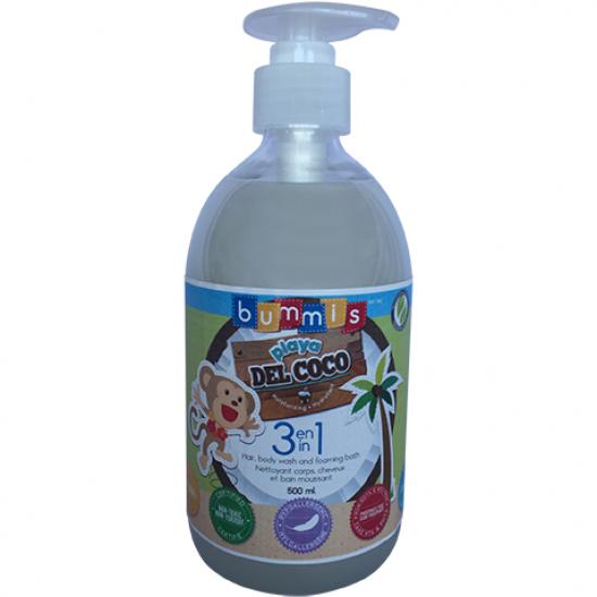SAVON 3-EN-1 PLAYA DEL COCO de Bummis - 500 ML