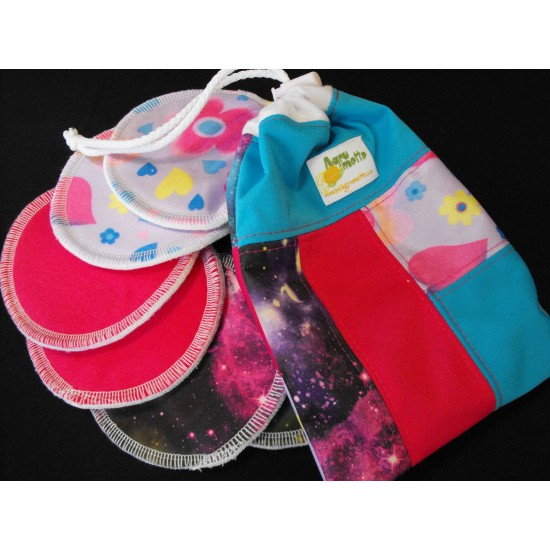 Compresses d'allaitement avec sac à cordon (3 paires)