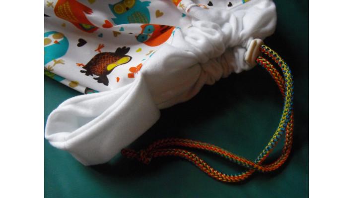 GRAND sac imperméable à cordon, contour élastique ou fermeture éclair -  SUR COMMANDE