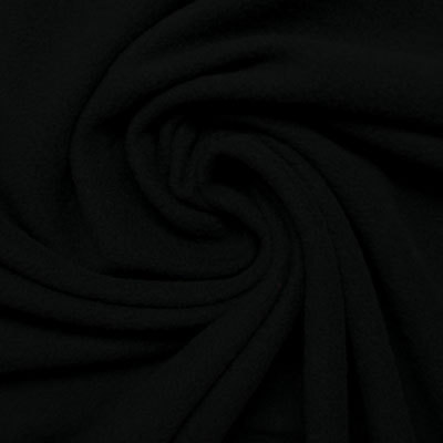 Anti-pill black polar fleece