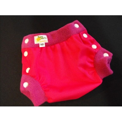 Diaper cover - PUL/fleece  pink newborn